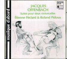 CD album: Jacques Offenbach: Roland pidoux. Etienne Péclard. harmonia mundi. J
