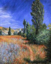 'Paesaggio a Saint-Martin quadro - Stampa d''arte su tela telaio in legno'