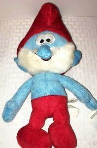 "Papa Smurf 9"" Plush The Smurfs Blue Red White"