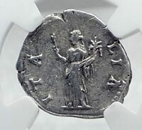HADRIAN TRAVELS to / from ITALIA Authentic Ancient Silver Roman Coin NGC i81289