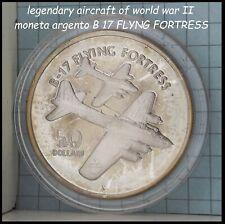 aereo Guerra Mondiale WWII B17 moneta di argento da collezione in silver monete