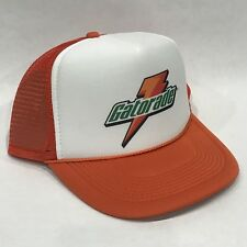 Vintage Gatorade Sports Drink Trucker Hat Mesh Snapback Promo Cap Orange