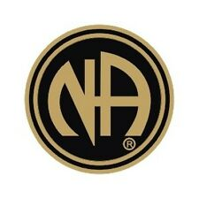 """Narcotics Anonymous Recovery Lapel, Hat, Vest Pins, NA Pin Black and Gold 3/4"""""""