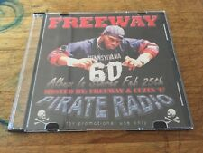 RARE Cuzin E & FREEWAY Pirate Radio Street Bangers PROMO Hip Hop Rap CD Gangsta