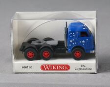 WIKING 050702/0507 02 (H0, 1:87) Us-Tractor Blue/Stars - New
