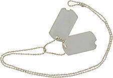 NEW DOG TAGS (SILVER) Camping Bushcraft