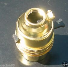 "BRASS ANTIQUE TABLE RETRO SWITCHED BAYONET CAP B22 LAMPHOLDER 1/2"" THREAD"