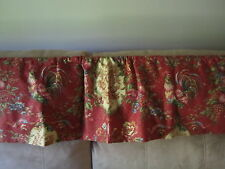 LAST 1's Saison Printemp Red Yellow French Country Rooster Chicken Toile Valance