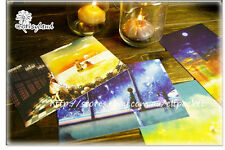 4pcs Illustration Across Time Watch u Postcard Picture Poster Greeting Gift Card