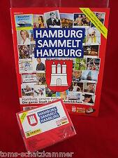 Panini Hamburg sammelt Hamburg 1 Box 50 Tüten + Leeralbum = 250 Sticker + Album