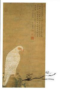 Kunstpostkarte - Tch'en Jou-Kouei:  Weisser Falke