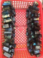 40-50mm 2.2lb  NATURAL Labradorite Blue/Yellow/ ORE / Fire GEM Mineral Specimen