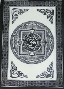 Om Mandala Peace Of Mind Tapestry Indian Meditation Wall Hanging Boho Dorm 40*30