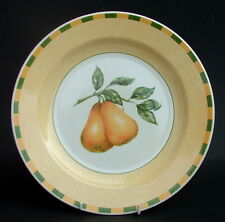 TWO Churchill Somerset Fruits Pattern Pears Lg Size Dinner Plates 26.5cm in VGC
