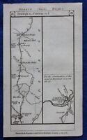 Original antique road map WALES, DENBIGH, ABERCONWY, Paterson, 1785