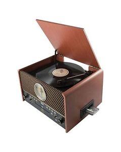 GPO Chesterton Vintage Retro Vinyl Record Player Turntable Radio/CD/USB/Cassette