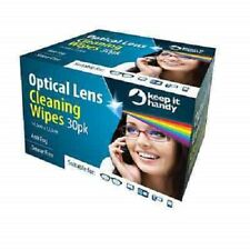 30 X OPTICAL SPECTACLE GLASSES GLASS LENS MONITOR SMEAR FREE CLEANING WIPES OTL
