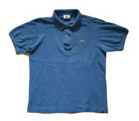 LACOSTE POLO SHIRT DEVANLAY BLUE COTTON REGULAR FIT SIZE 4 S (40)