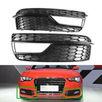 2X Front Lower Bumper Grill Fog Light Cover Fit For AUDI A5 Quattro S-Line 13-17