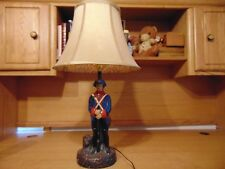 Large Vintage Ceramic And Metal Revolutionary War Soldier Lamp And Shade