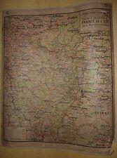 Ancienne Carte affiche scolaire Vidal Lablache France Est