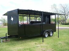 NEW BBQ pit Reverse Flow smoker Charcoal grill Concession trailer