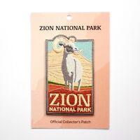 Official Zion National Park Souvenir Patch Iron on Desert Bighorn Sheep Utah