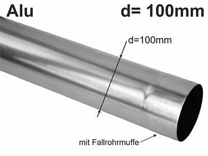 Alu Fallrohr rund d=100mm  2m (1St a'2m)