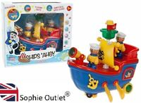 MUSICAL SAILING BOAT Ships Ahoy Flashing Light Music Kids Toy Birthday Gift Box