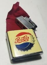 Extremely RARE Vintage Official Pepsi-Cola Antique Wind Up Musical Lighter Japan