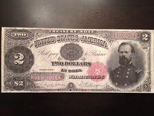 Reproduction Copy $2 Bill Treasury Note 1891 Gen. James McPherson (Civil War)