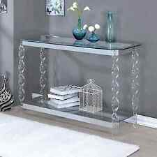 Console Tables For Entryway Chrome Sofa Table Clear Glass Acrylic Contemporary