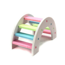 Hamster Colorful Ladder Toys Small Animal Pets Climbing Wood Rainbow Gracious