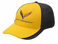 C7 Corvette Stingray Carbon Fiber Yellow Polyester Hat