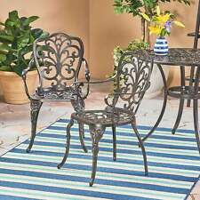 New listing Viga Outdoor Cast Aluminum Dining Chair (Set of 2) by shiny copper N/A