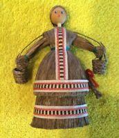 European (German?) Folk Art Horse Hair Doll