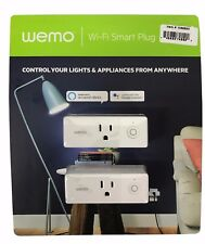 Wemo Wi-Fi Smart Plug 2 Pack - Control Appliances with Alexa or Google Assistant