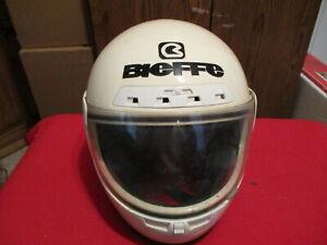 Vintage Bieffe Motorcycle Helmet USED Mancave Decor Great Look Made In Italy