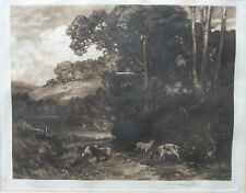 SIR FRANK SHORT RA PRE 1857-1945 ORIGINAL SIGNED ETCHING 'IN THE COTSWOLDS' 1908