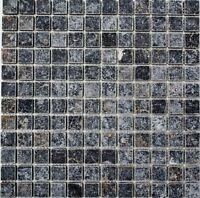 Mosaik Fliese Nero antique Marble Wand Boden Küche WC Art: 36-0306-a_b   1 Matte