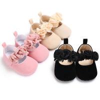 Baby Newborn Toddler Girl Crib Shoes Pram Soft Sole Prewalker Anti-slip Sneakers
