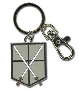 **Legit** Attack on Titan 104th Trainees Squad Emblem Metal Keychain #36794