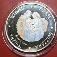Schweiz-Suisse: 20 Ecu1995, Weihnachten 1995 F#3146 in Farbe-Colored, nur 5.000