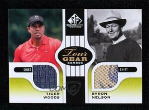 2012 SP Game Used Edition Tour Gear Combos Green Shirts Tiger Woods Byron Nelson