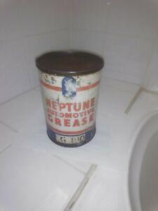 Old Vintage Neptune 5lbs Oil Tin Petrol