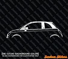 2 silhouette stickers aufkleber for for Fiat 500