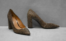 A8 NEW BANANA REPUBLIC Animal Print Hair Block Heel Pumps Shoes Size 9