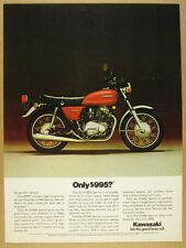1976 Kawasaki KZ400 Special 'Only $995?' motorcycle photo vintage print Ad