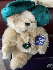 """Annette Funicello Christmas Bears Holly Bear is 9"""" Tall 2004 Beige Soft"""