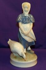 Beautiful Royal Copenhagen Goose Girl Figurine #527 By Christian Thomsen 1966